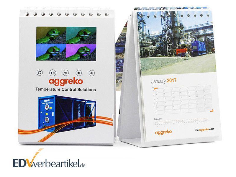 Videocard mit LCD Display als Kalender Terminplaner