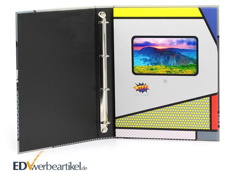 Videocard mit LCD Display Ringfolder Ordner