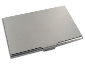 Aluminium Etui für Visitenkarten