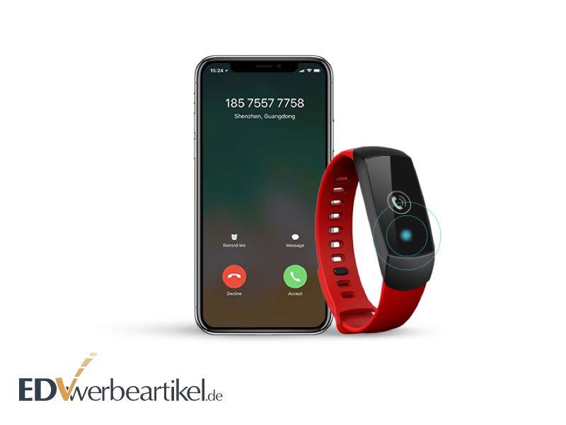 Schrittzähler Werbeartikel - Fitness Tracker mit Logo bedrucken