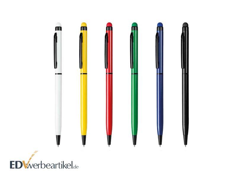 2in1 Kugelschreiber Touchpen mit Logo in vielen Farben