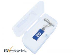 Mini USB Stick Anhänger in Geschenk Verpackung - Box aus Plastik