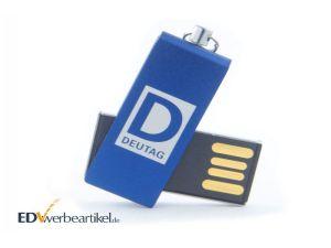 Werbeartikel Mini USB Stick mit Logo bedrucken als Anhänger