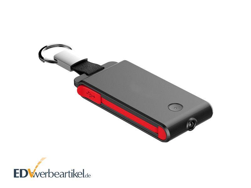 Werbeartikel Powerbank Schlüsselanhänger ROCKET 2000 mAh
