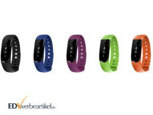 Werbeartikel Fitness Armband Pulsmesser mit Firmenlogo bedrucken