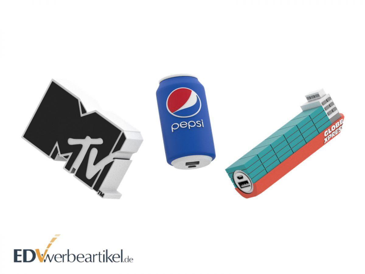 Werbeartikel Powerbank in 3D Sonderanfertigung- Jetzt Wunschform gestalten!