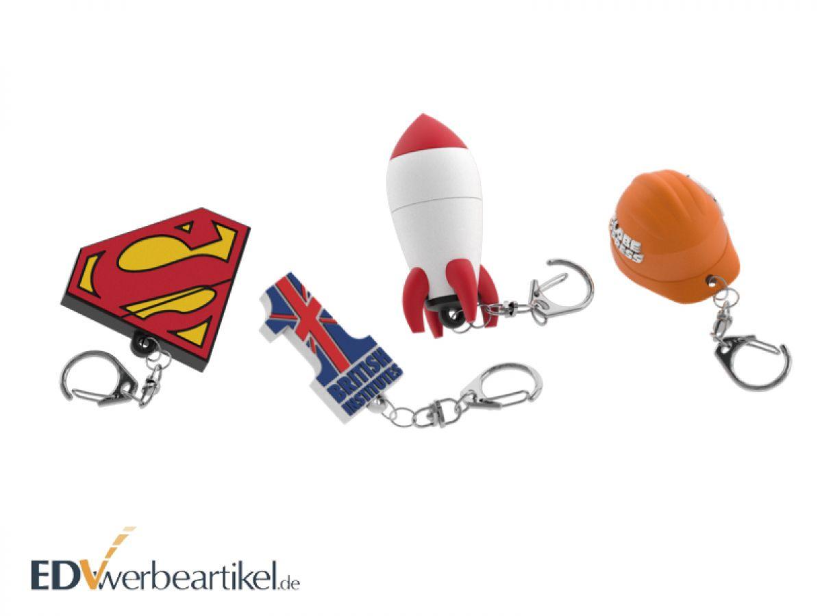 Individuellen Logo Schlüsselanhänger in 2D oder 3D Sonderform gestalten