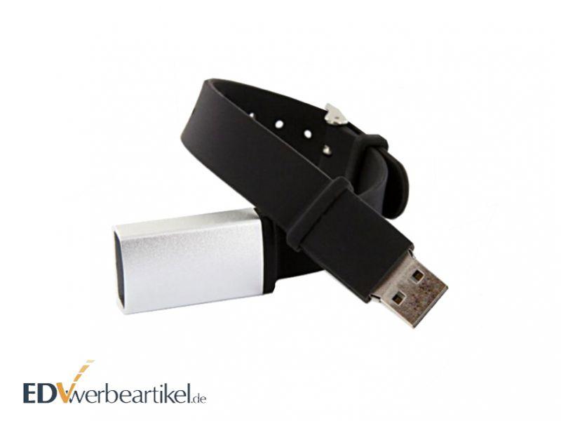 USB Armband aus Silikon als Werbemittel mit Logo