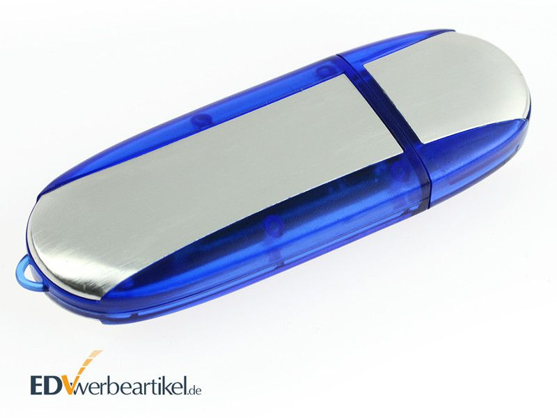 Werbeartikel USB Stick mit Logo bedrucken Simple Alu TWO