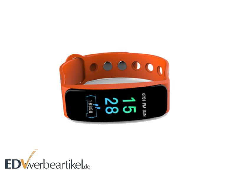 Fitness Armbanduhr HEALTH mit Logo als Werbeartikel