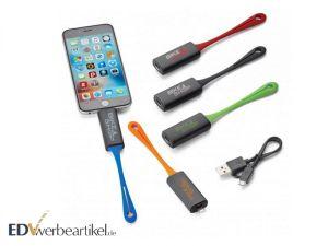 Mini Powerbank Schlüsselanhänger als Werbemittel mit Firmenlogo bedrucken