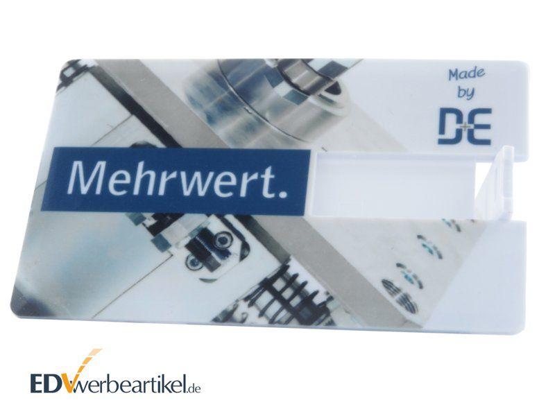 Werbemittel USB Karte mit Logo bedrucken - Visitenkarte Scheckkarte