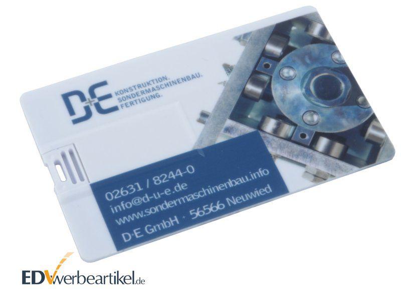 Werbemittel USB Karte mit Firmenlogo - Visitenkarte Scheckkarte