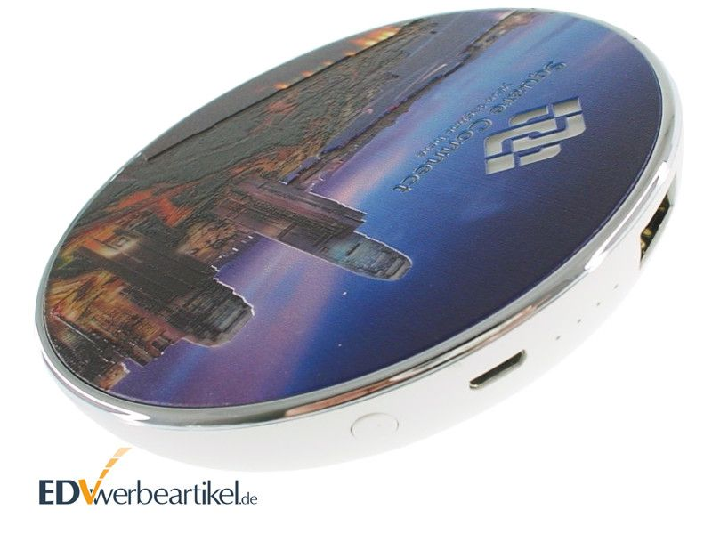 Wireless Charger mit Powerbank als Werbeartikel