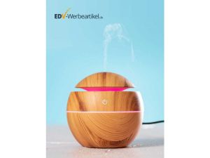 Luftbefeuchter WOODBALL Aroma-Difusor und Ambient-LED