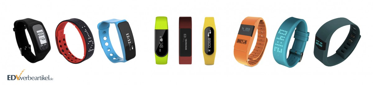 Fitness Armband Werbeartikel Modelle mit verschiedenen Display-Arten