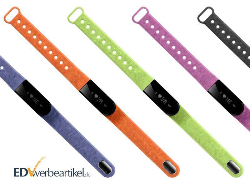 Fitness Armband Werbeartikel in vielen Farben verfügbar - auch in Pantone Wunschfarbe
