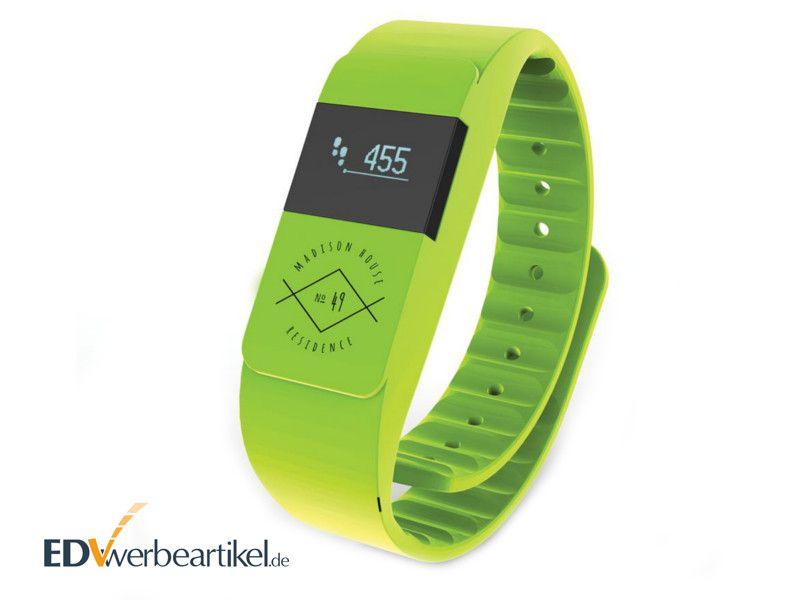 Fitness Armband mit Logo bedrucken - Druckbeispiel