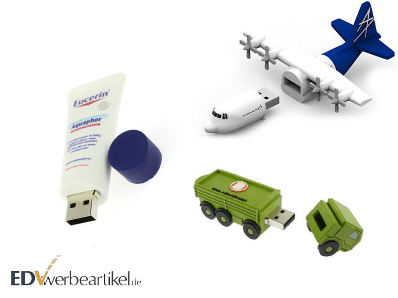 Individuelle USB Sticks in Sonderform gestalten
